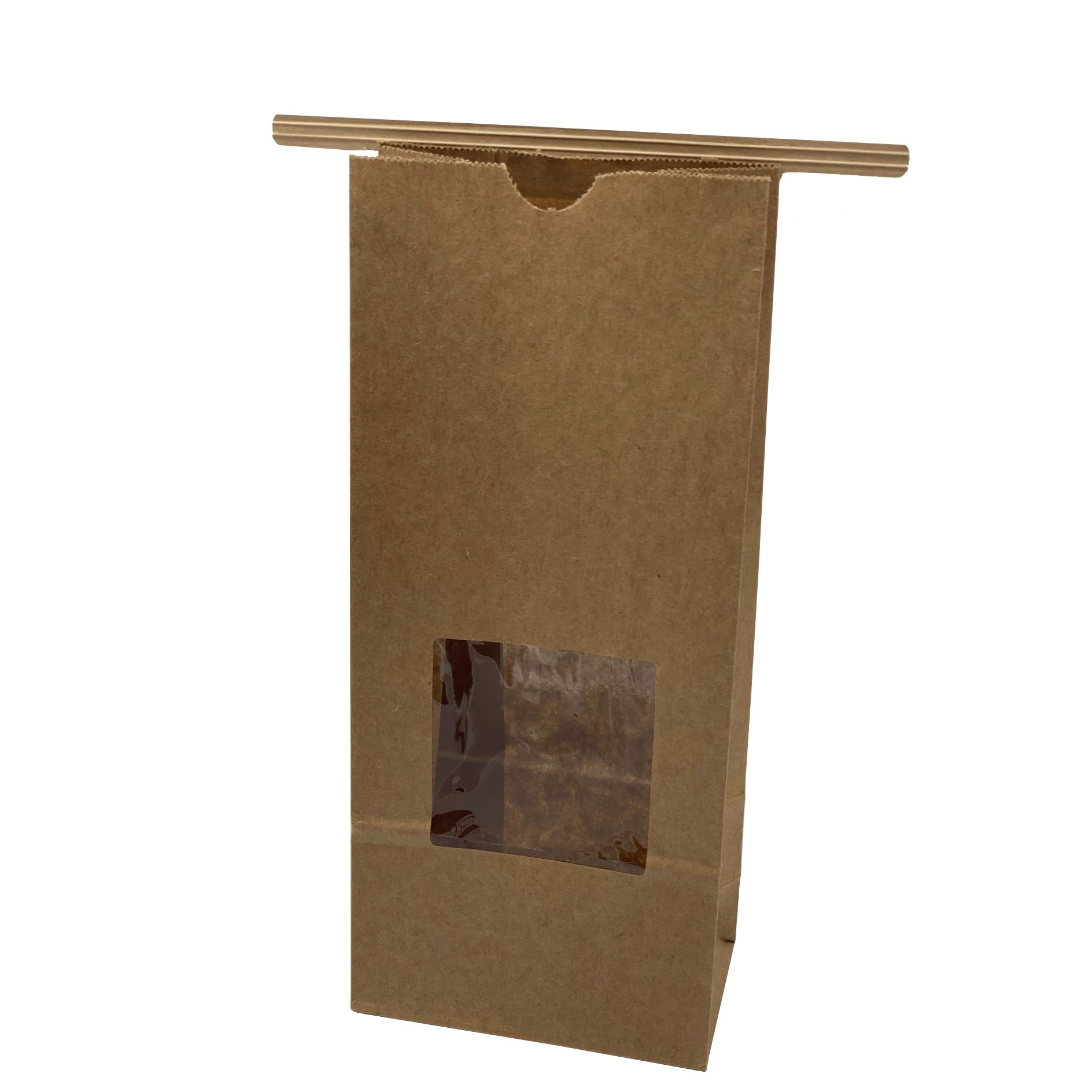 Brown Kraft Strong Paper Food Bags Sandwiches Groceries Candy etc White