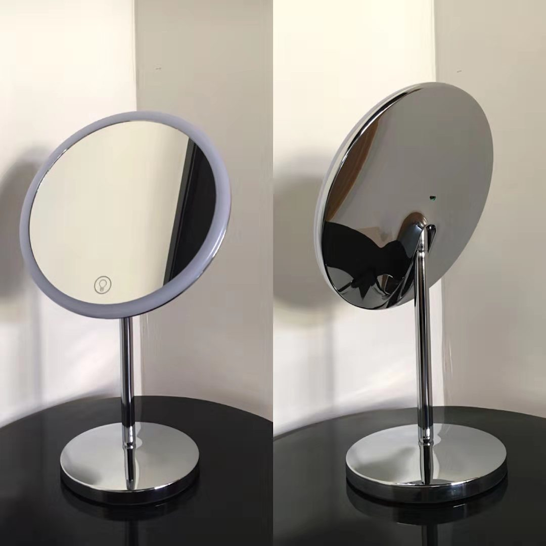 China Top Amazon Seller 2020 Led Touch Light Illuminated Metal Diy Desktop Vanity Mirror With Lights Around The Edge China Vanity Mirror And Vanity Mirror With Lights Price