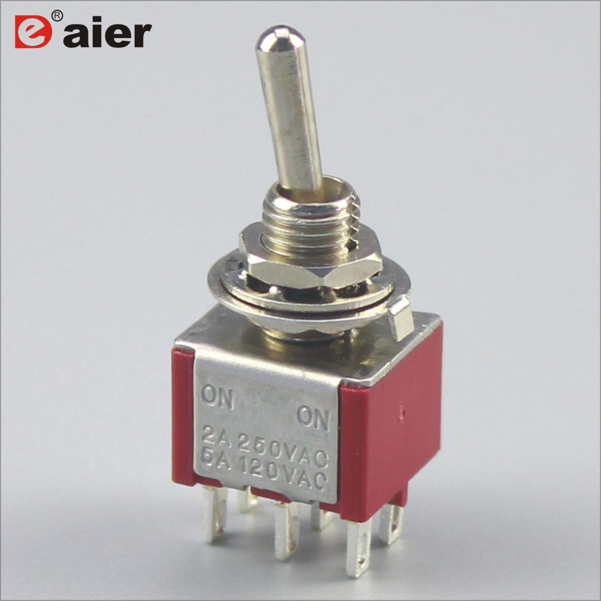 China Mts-202 Mini Double Pole 6 Pin on-on Toggle Switch - China on ...