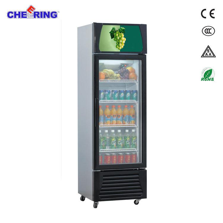 China Commercial Beverage Cooler Display Showcase Glass Door