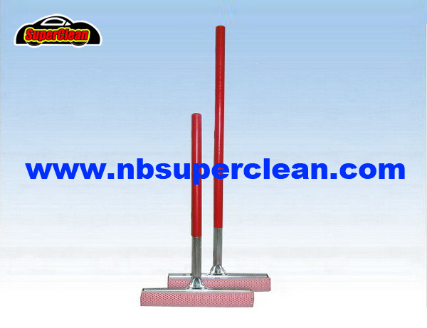 Floor Window Cleaning Squeegee Kitchen Water Mop Wiper Foam Rubber Handle