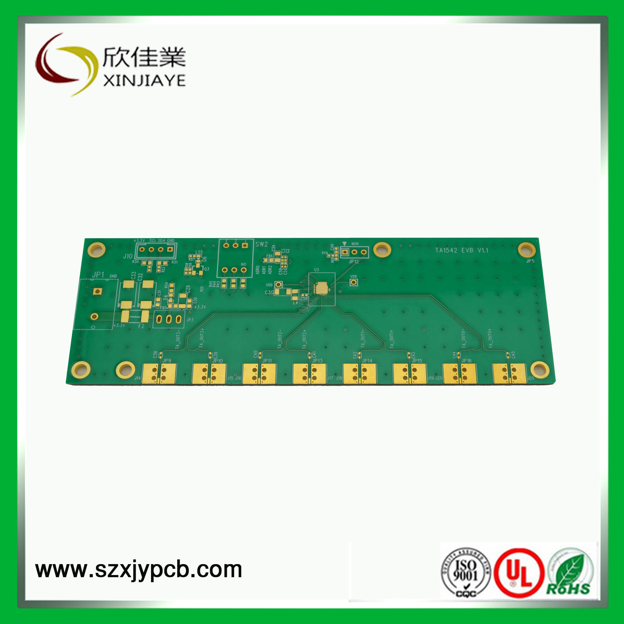 China Multilayer Pcb With Half Hole Circuit Board Printed Boardrf4 Oem Multiplayer Buy