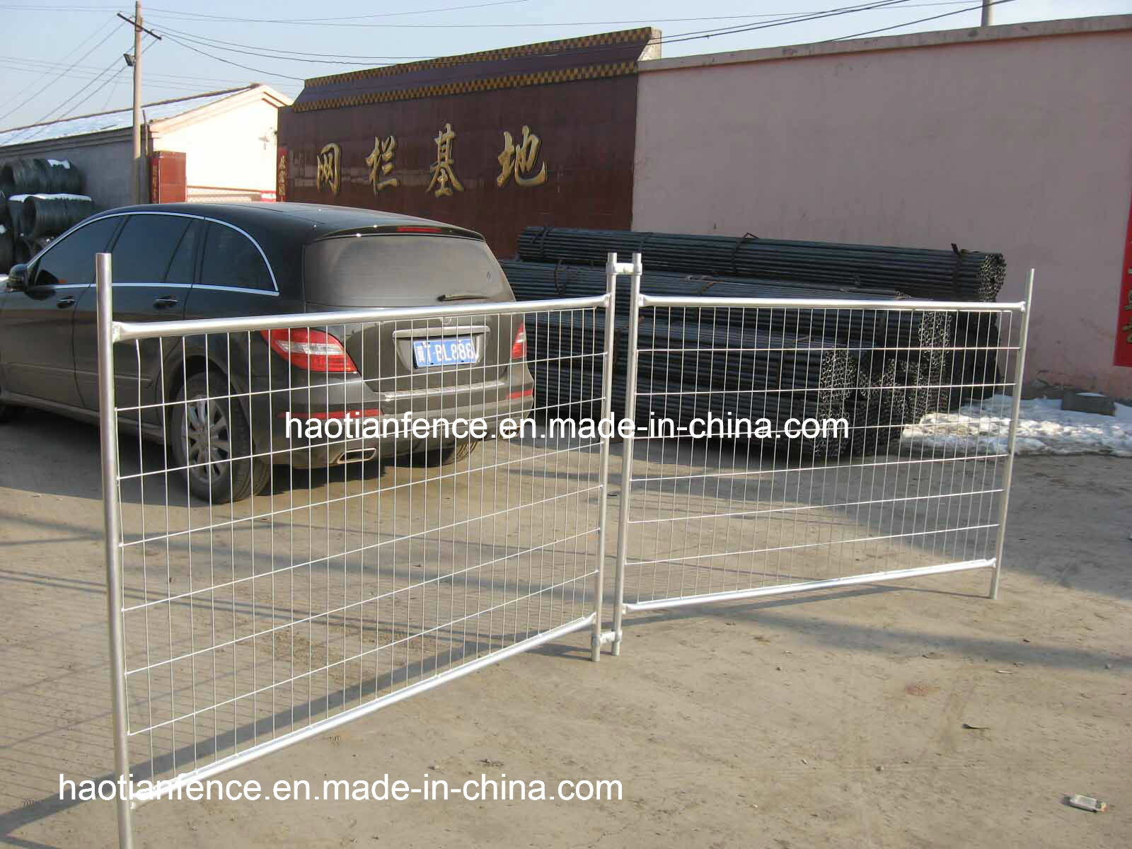 China Galvanized Temporary Welded Metal Wire Fence Panels - China ...