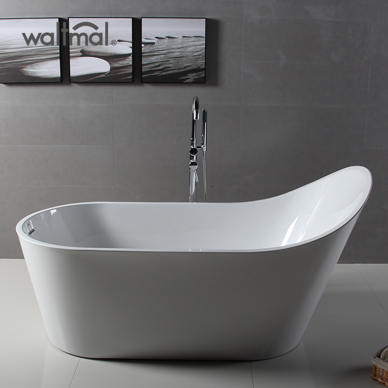 China 2019 New Design Acrylic Freestanding High Slipper Bath Tub ...