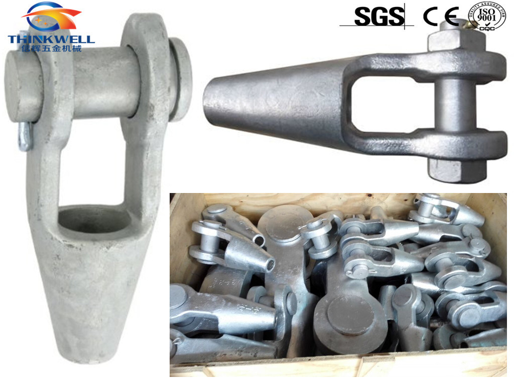 China Galvanized Grooved Open Spelter Socket for Wire Rope - China ...