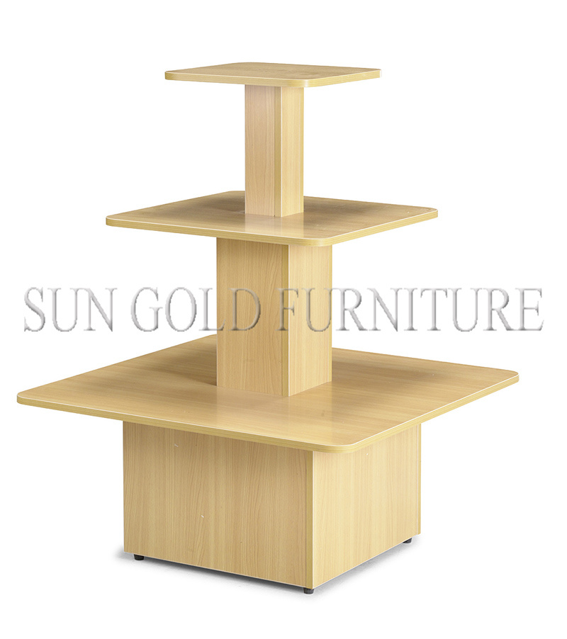 Hot Item 3 Tier Wooden Retail Display Stand Sz Wdr002