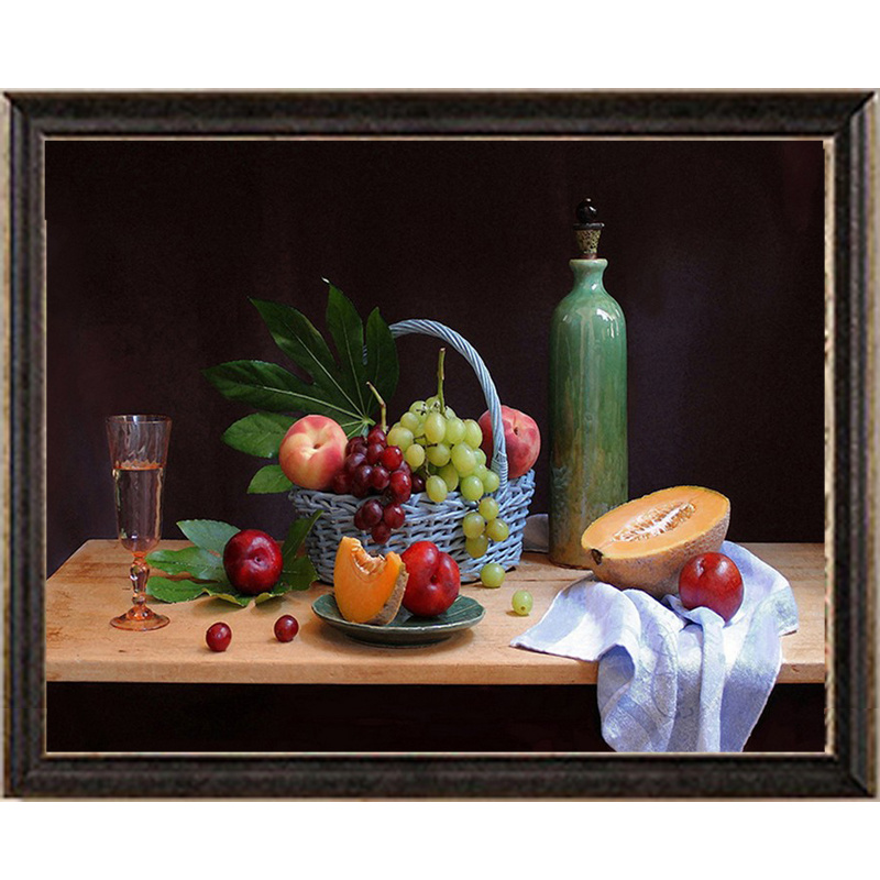 Hot Item Factory Sells New Design Wall Painting Still Life Fruits Canvas Oil Painting