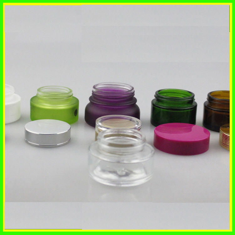 New 50ml 60ml Glass Clear Cosmetic Jars Cosmetic Packaging Cream Glass Bottl Jar