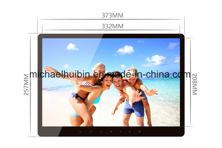 15.6inch TFT LED Display Touch-Button Advertising Digital Photo Frame (HB-DPF1561)