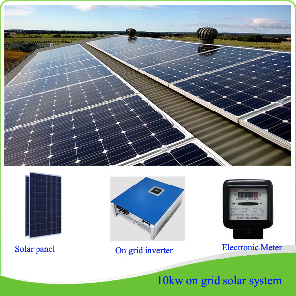 China Grount Or Roof Top Solar Bracket Solar Energy Grid Tie Solar System 10kw 10kw Solar System 260w Solar Panel On Grid Inverter China On Grid Solar System 10kw Grid Tie