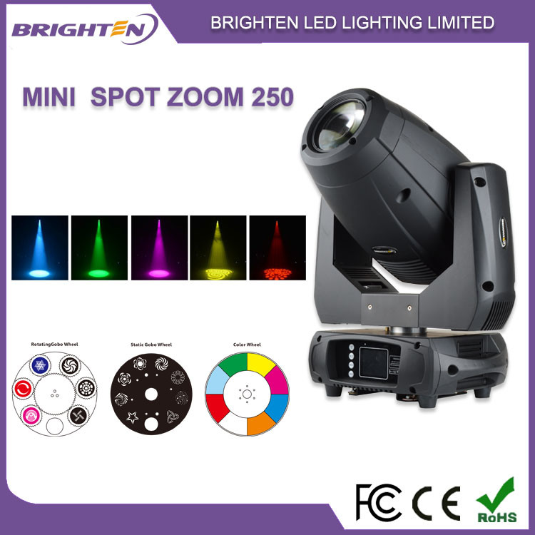 Professional Intelligent Lighting Fixtures 250W LED Zoom Spot Stage Lights