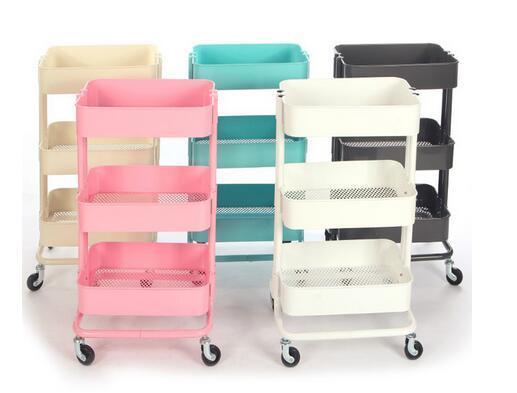 China Cheap Metal 3 Tier Rolling Cart Kitchen Vegetable Cart Storage
