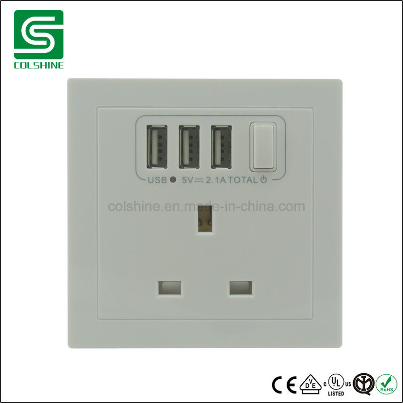 China British Standard Electrical Wall Switch and Socket with USB ...