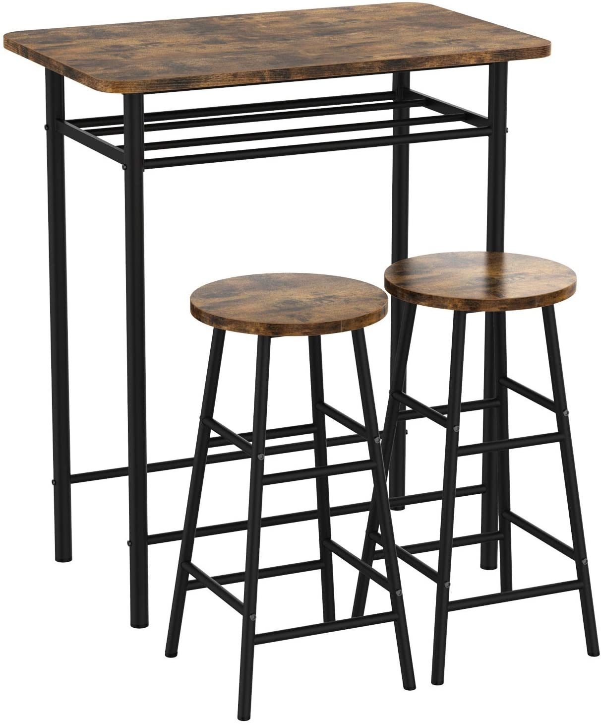 China Wholesaler 3 Pieces Bar Table Set Modern Pub Table And Chairs Dining Set Kitchen Counter Height Dining Table Set With 2 Bar Stools China Bar Table Counter Height Table