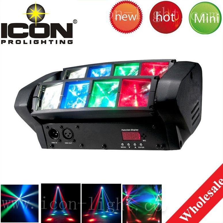 [Hot Item] Spider 8X3w RGBW LED Moving Head for Stage Light Mini Light
