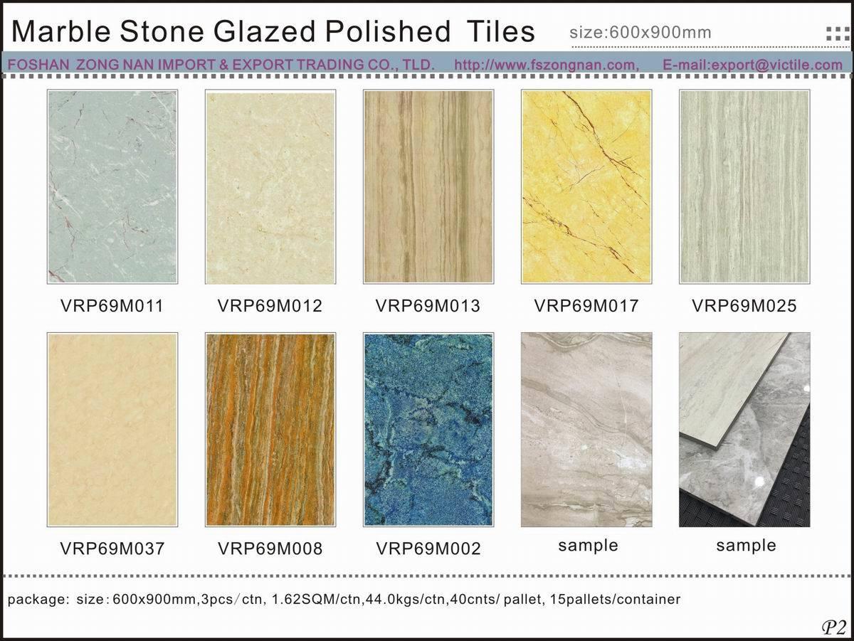 China High Quality Marble Stone Glazed Polished Porcelain Floor