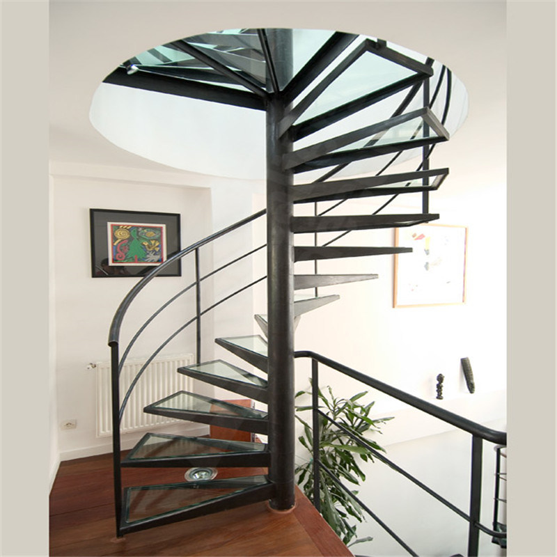 High Quality Indoor House Stairs Spiral Staircase Cost