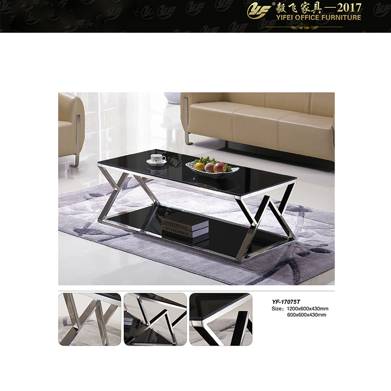 China Glass Top Rectangular Coffee Table Large Square Coffee Table