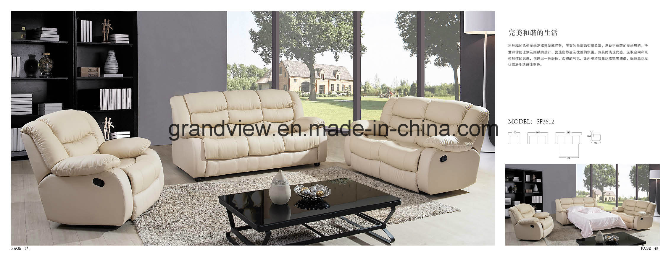 Pleasant China 2018 Reclining Top Grain Leather Sofa Bed China Machost Co Dining Chair Design Ideas Machostcouk