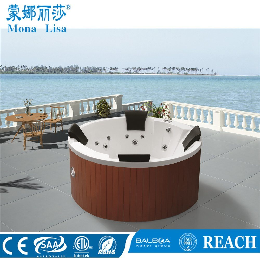 China 4 People Round Acrylic Outdoor Whirlpool SPA - China Outdoor ...