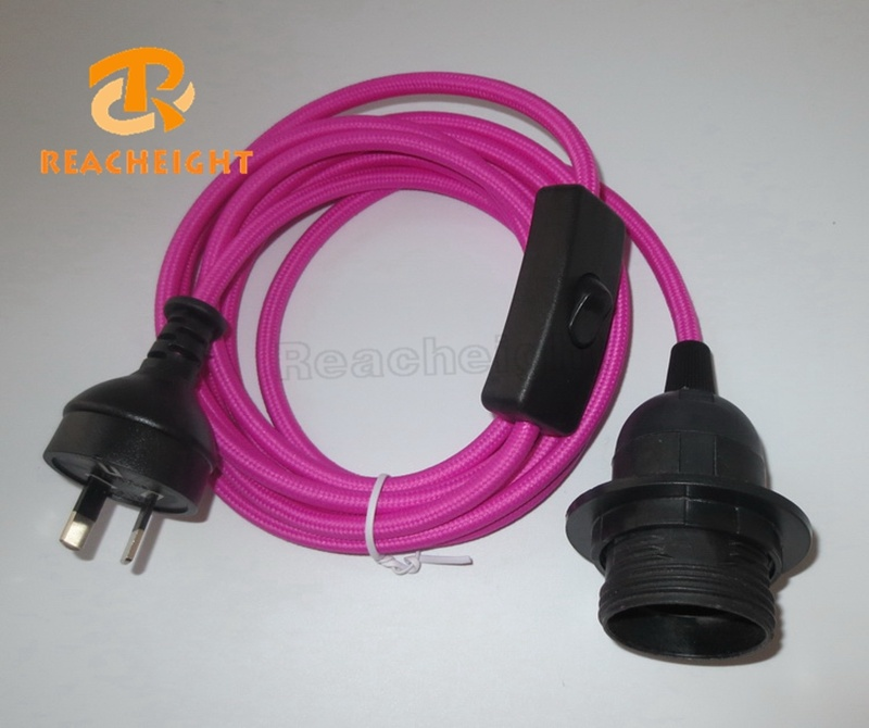 China SAA Power Cord Plug with Switch and Light Socket Fabric Round ...