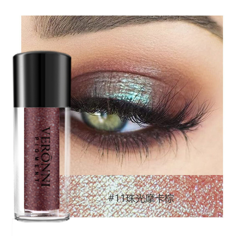 China 12 Colors Eye Makeup Eyeshadow Powder Shiny Loose Glitter