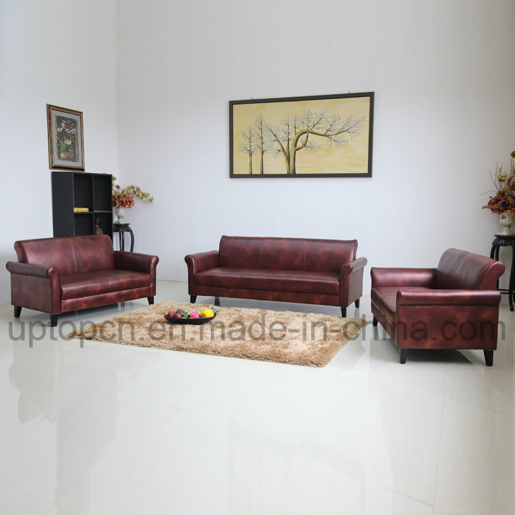 Hot Item Commercial Furniture Sofa Set In Wine Color For Living Room Sp Ks333