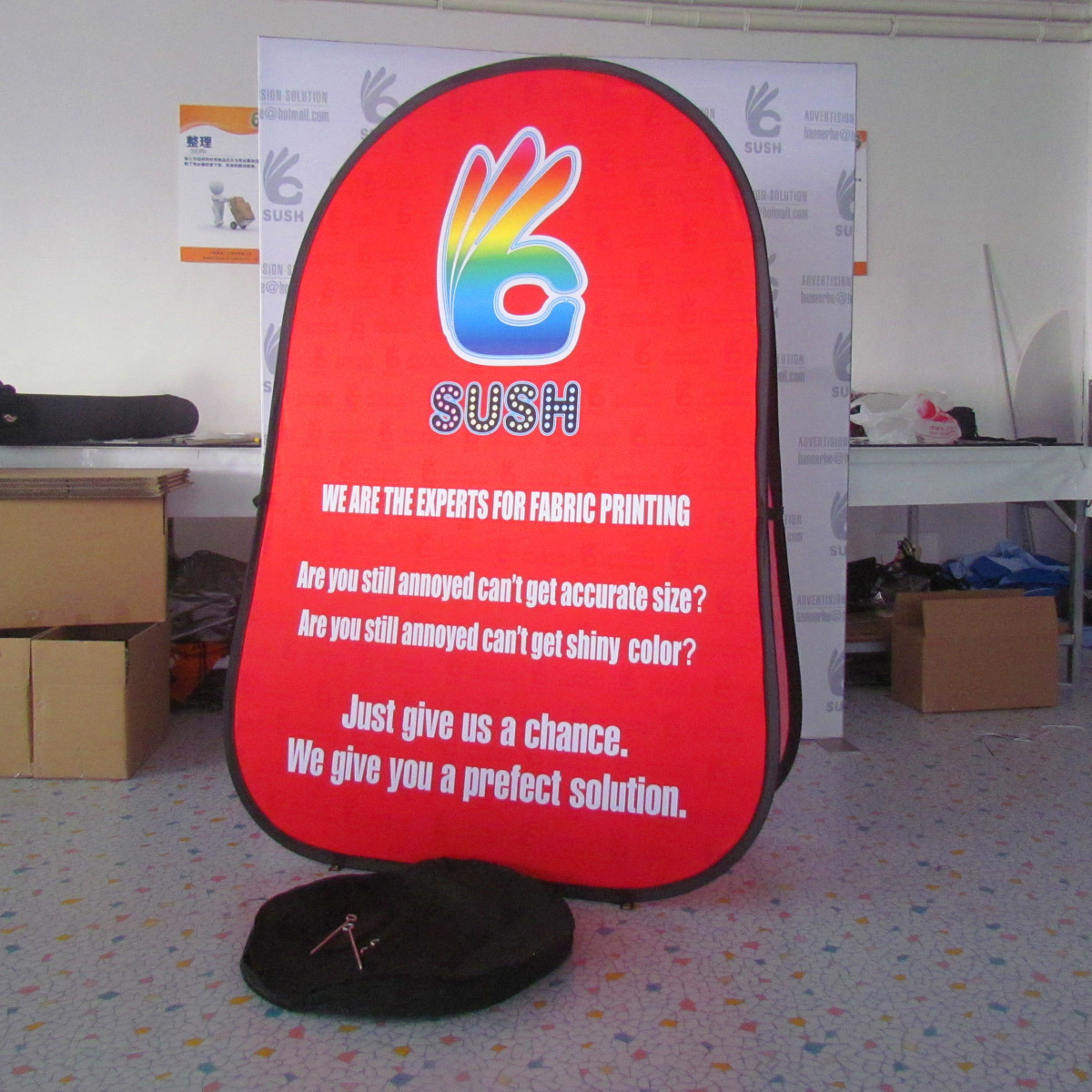 Portable Folding Pop up a Frame Display Banner pictures & photos