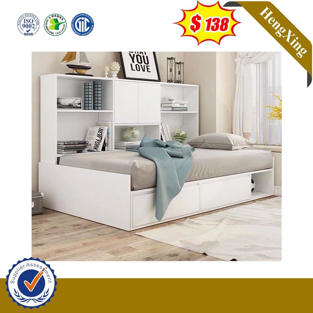 China Simple Single Size Wooden Kids Bed Children With Book Shelf Bedroom Home Furniture China Bedroom Furniture Children Bed
