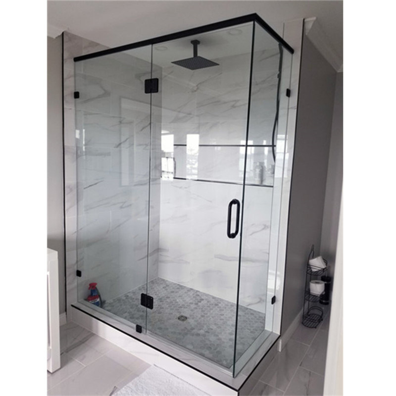 China Minimalist Frameless Folding Shower Glass Screen Shower Door For Bathroom China Sliding Tempered Glass Shower Door European Style Frameless Shower Door