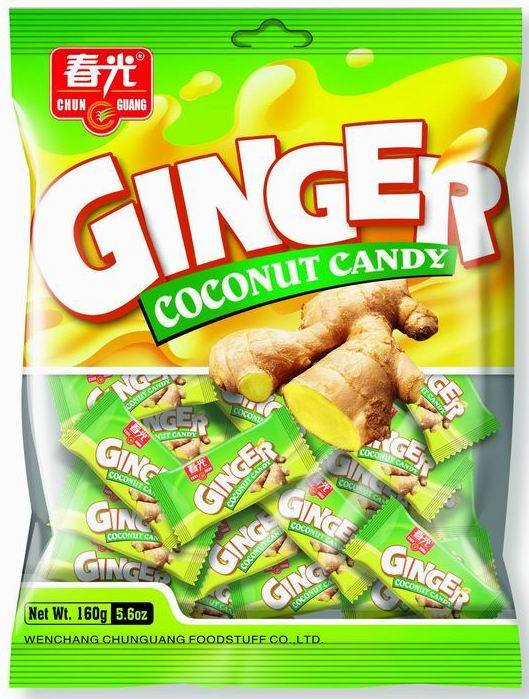 China Ginger Coconut Candy (772799) - China Candy, Hard Candy