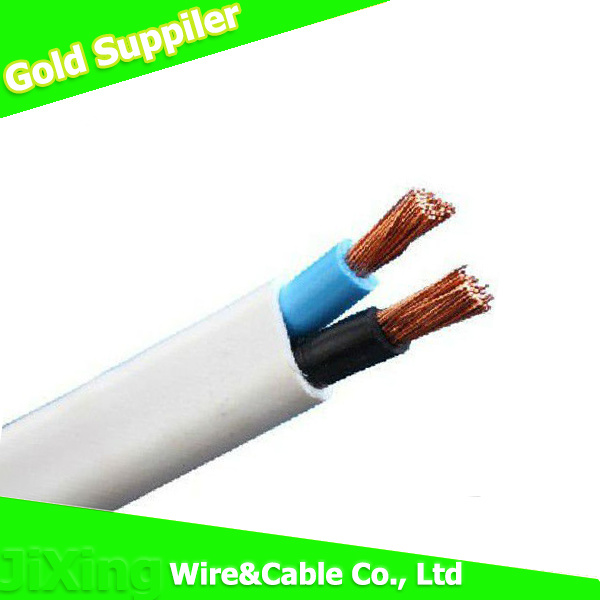 China Copper Conductor Solid Core PVC Insulated Twin Flat Wire Cable ...