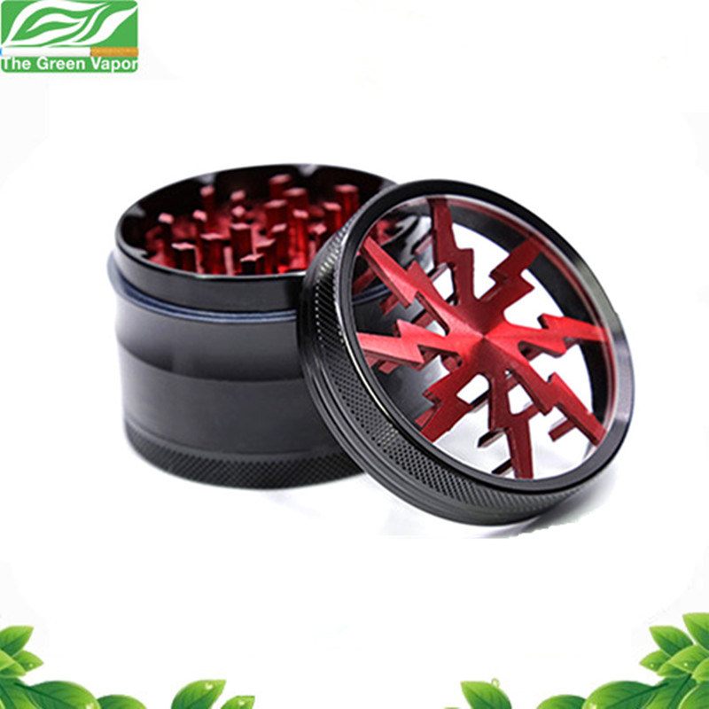 Hot Sale Grinding Machine 4 Pieces 55mm Flash Thunder Spice Grinder for E Cigarette Smoking pictures & photos