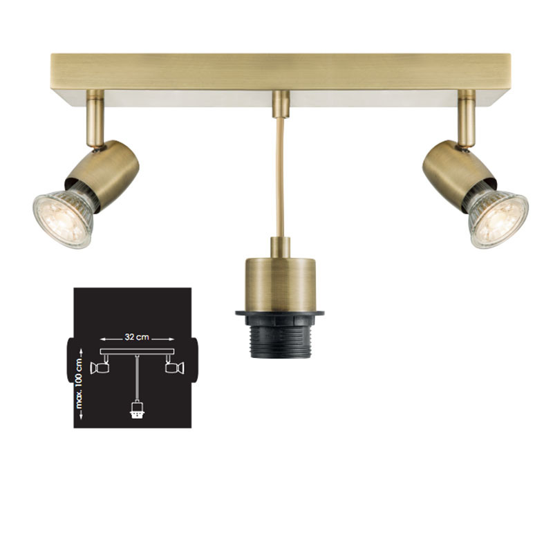 Hot Item Antique Br Ceiling Pendant Spot Lamp Light Fixtures With Ce Roval