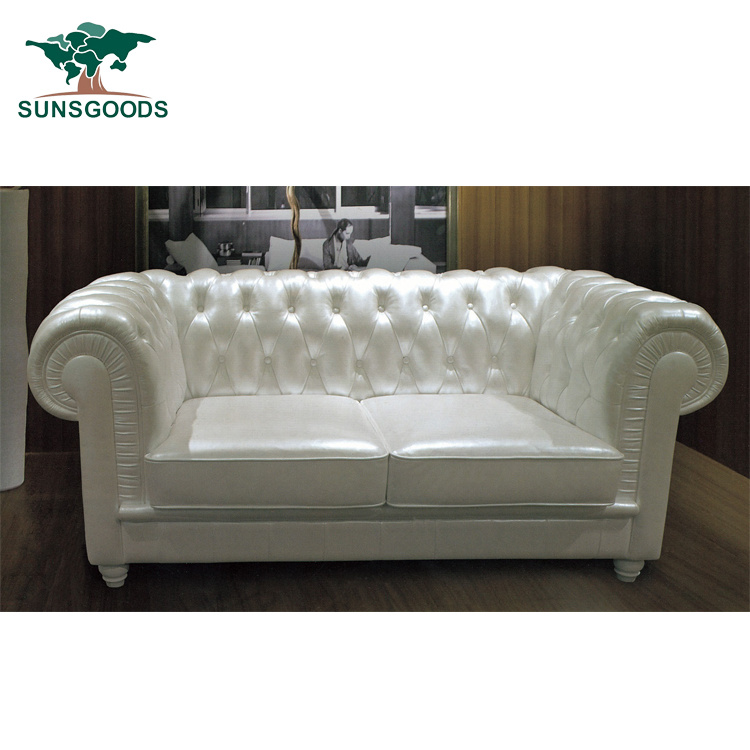 China Popular Classic Old Style Modern, Vintage Leather Sectional Sofa