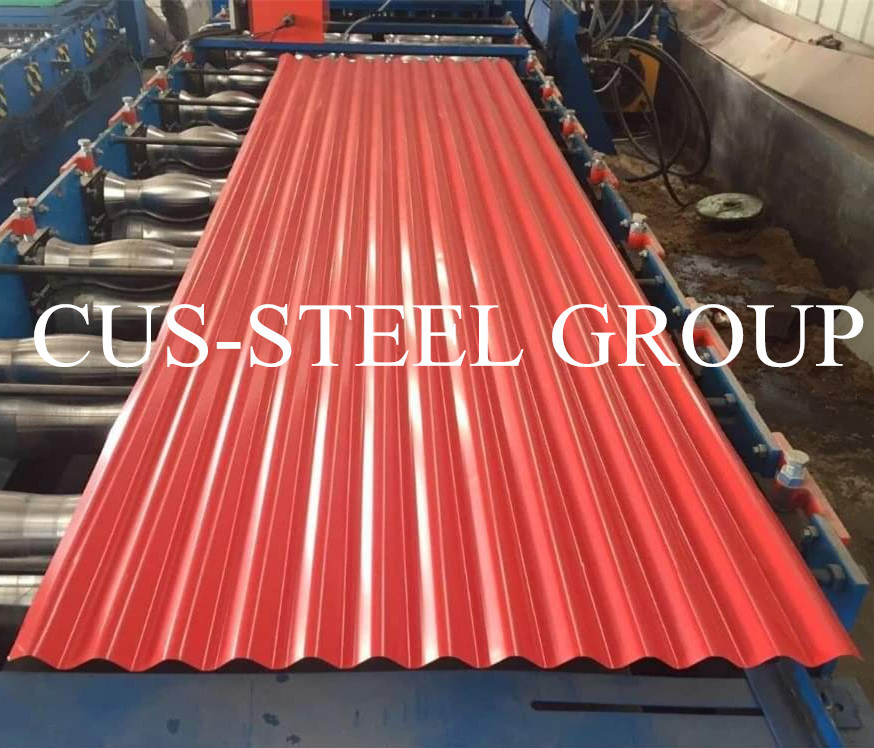 China Long Span 22 Gauge Color Coated Corrugated Fiber Cement Roofing Sheet In Philippines Price China Color Coated Corrugated Sheet Prepainted Sheet Metal Roofing