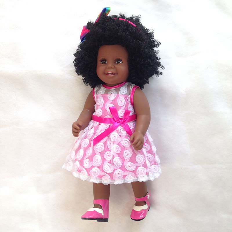 China 18 Black Doll With Natural Hair African American Doll Curly Girls Photos Pictures Made In China Com
