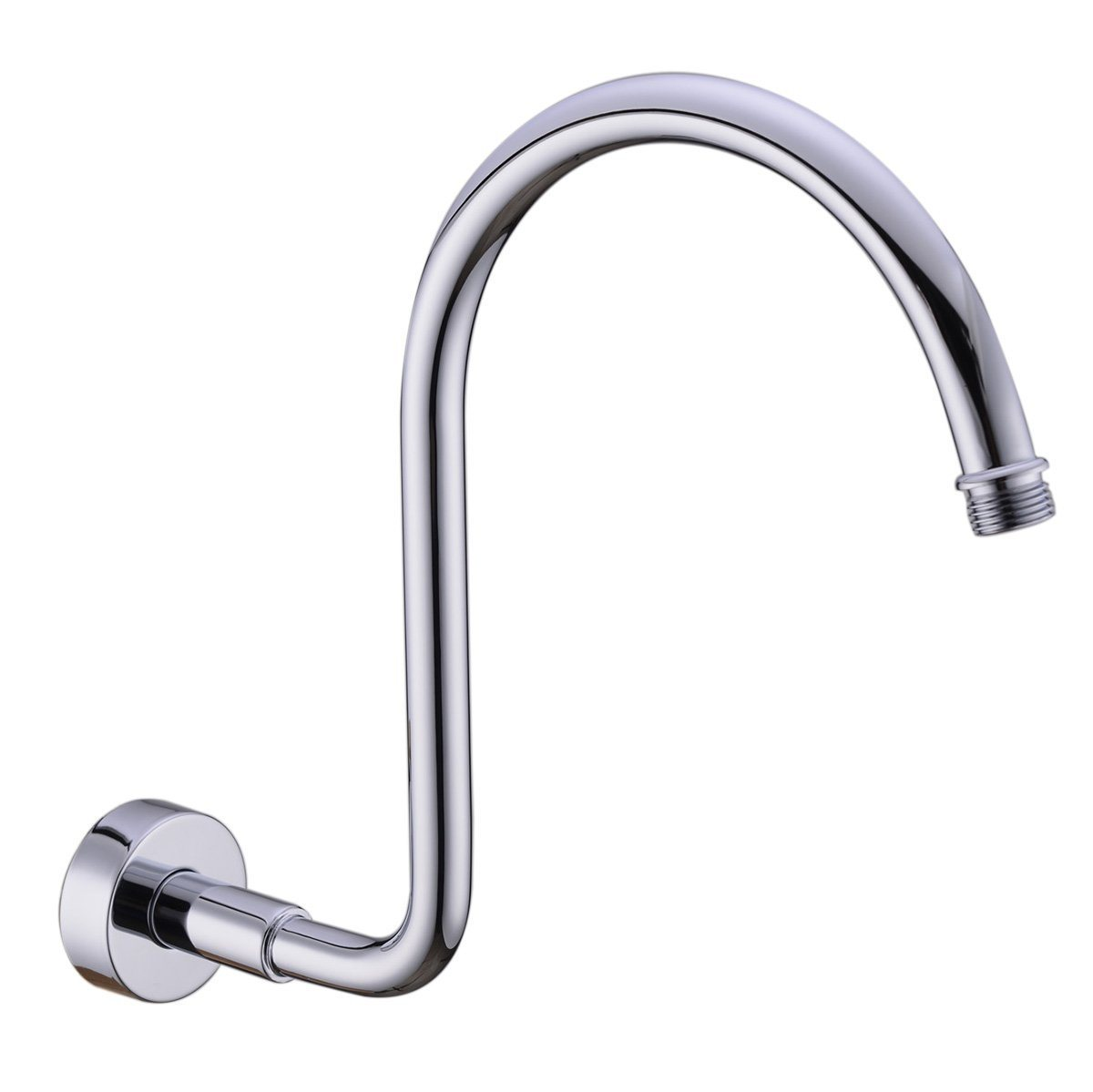 China Brass Gooseneck Extension Shower Arm With Flange Polished Chrome Also Brushed Nickel Or Bronze Or Black For Choose China Shower Arm Shower Head Arm