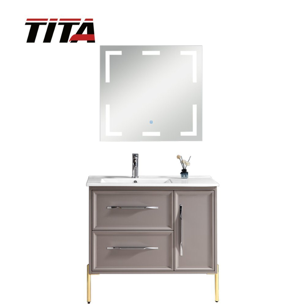 China Antique Vanity Sink Cabinet, Small Bathroom Furniture