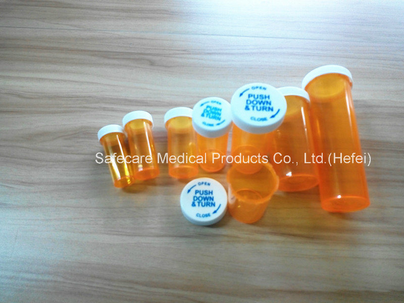 Medicine Pill Push Down and Turn Vials