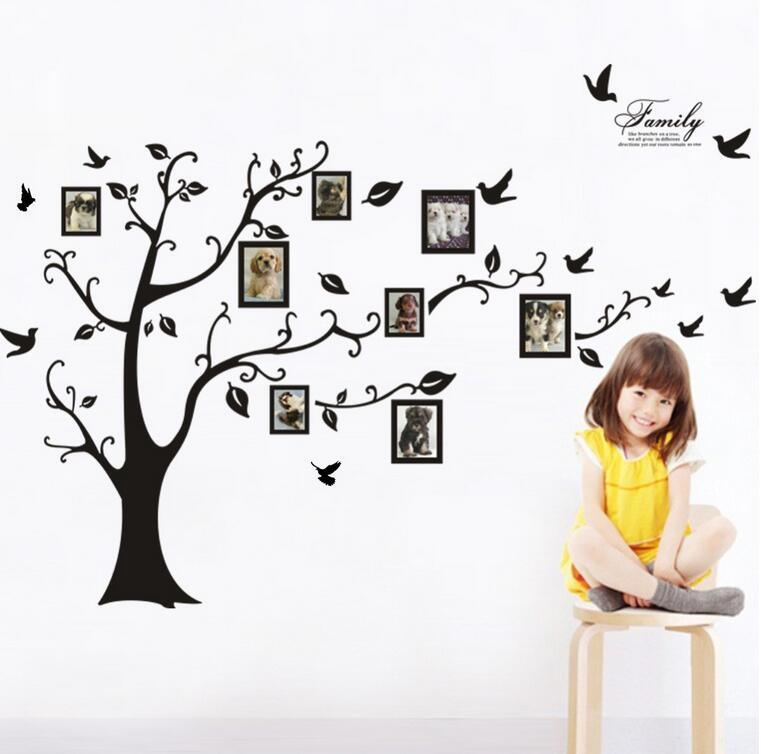 China New 3D Sticker on The Wall Black Art Photo Frame Memory Tree ...