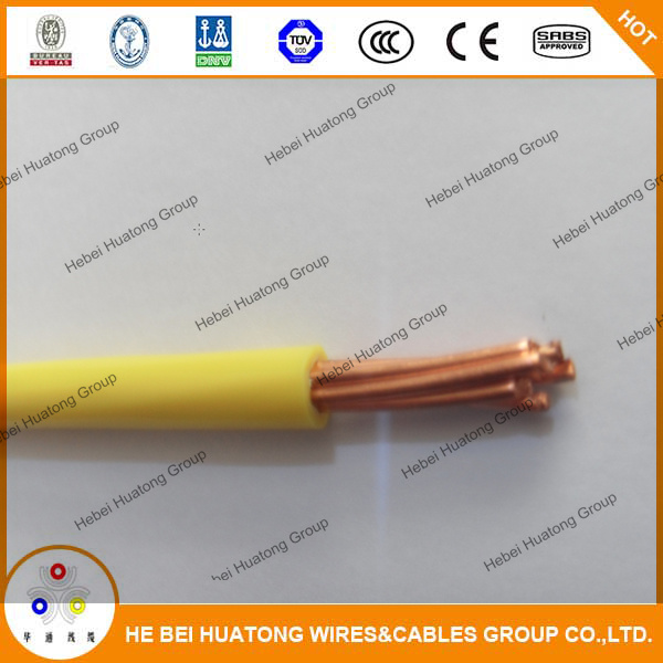 China Singe Core Pure Copper Electrical Wire 10 AWG 12AWG - China ...