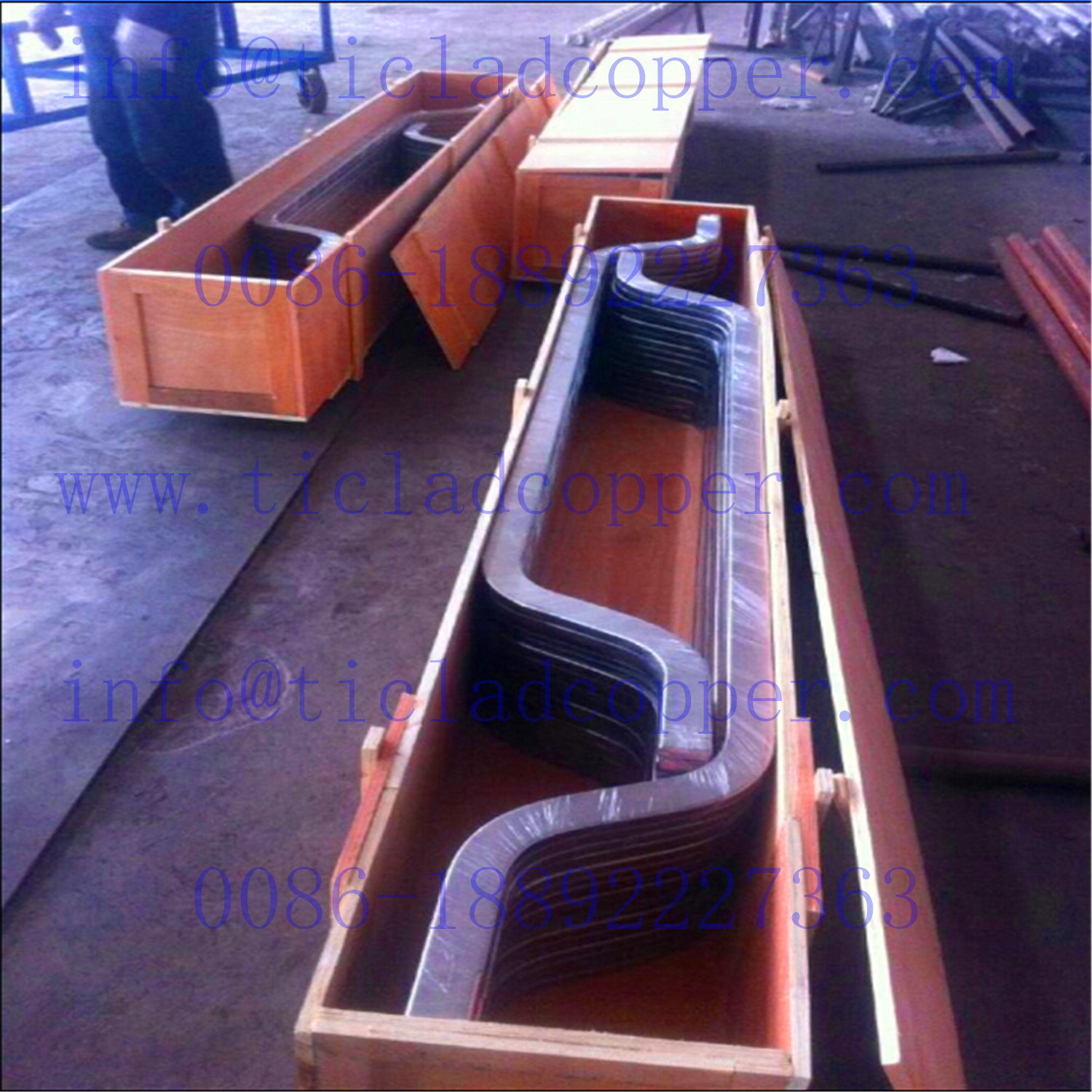 China Titanium Clad Copper Bar Anode for Gold Desorption
