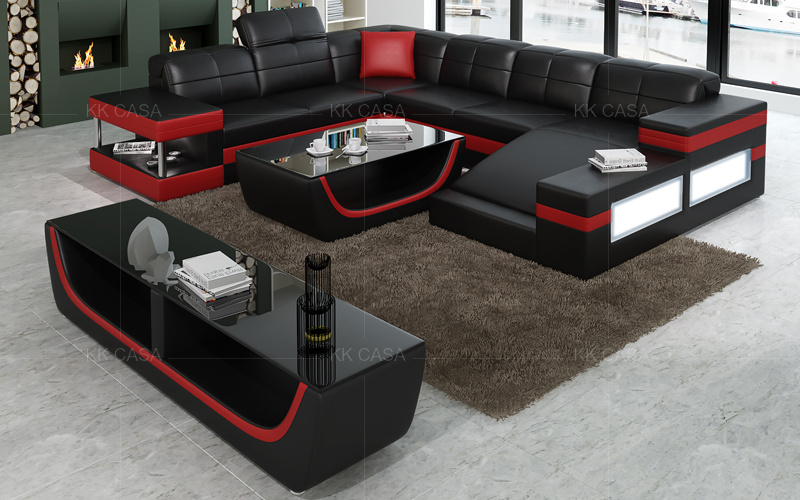 China Black with White Modern Contemporary Sectional Corner ...