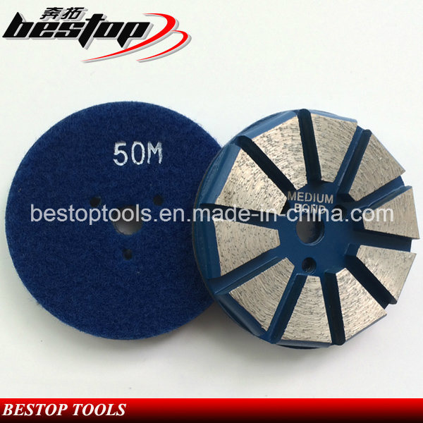 "3"" Hook & Loop Backed Diamond Concrete Grinding Disc Polishing Tools"