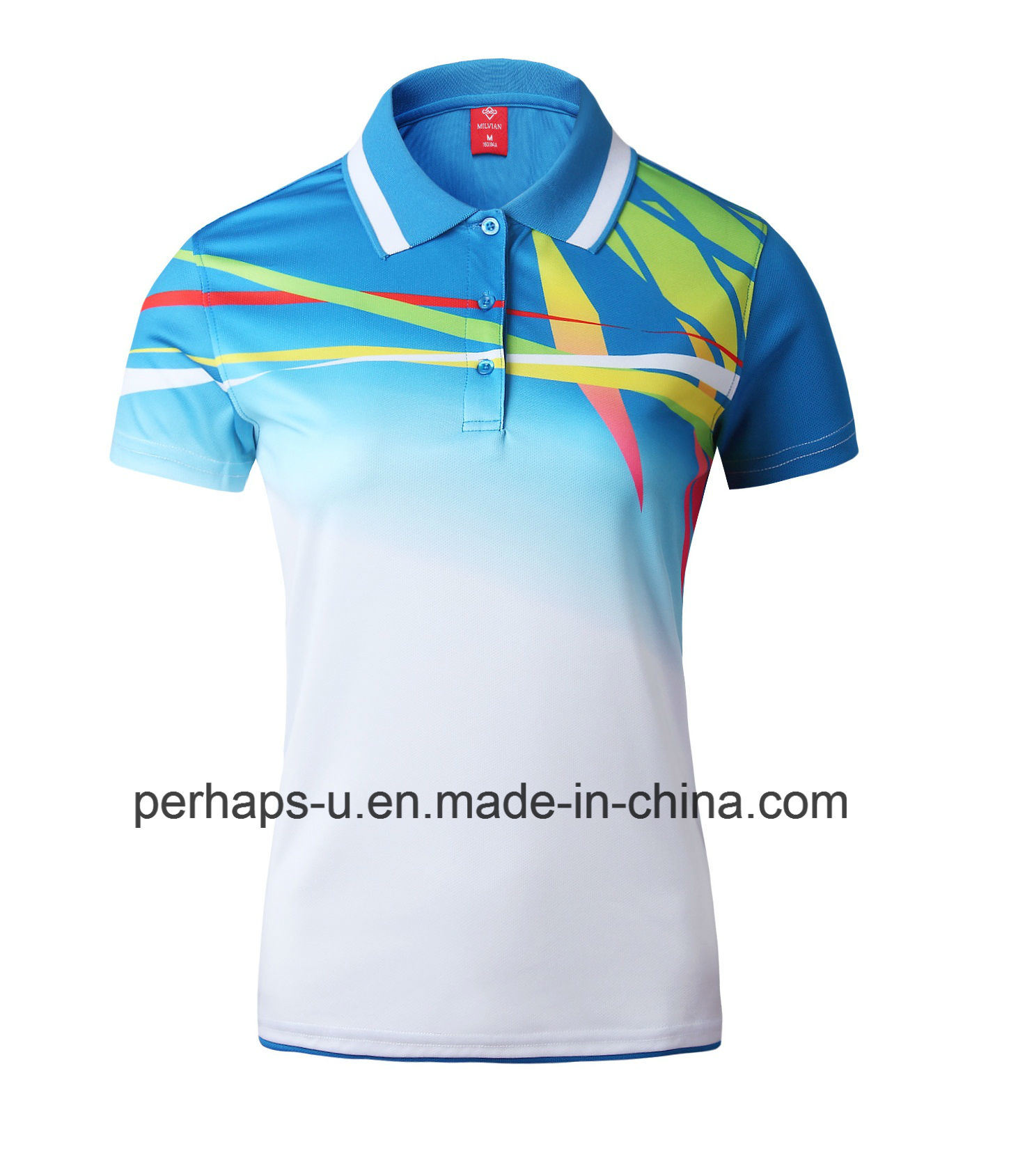China Custom Badminton Sport Polo Shirt With Microfiber Maretial