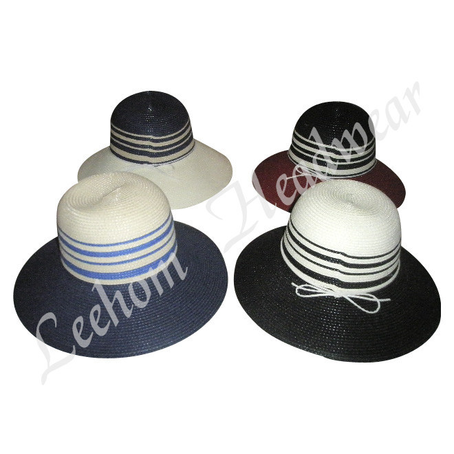 Fashion Summer Fedora Straw Bucket Hat (LB14027) pictures & photos
