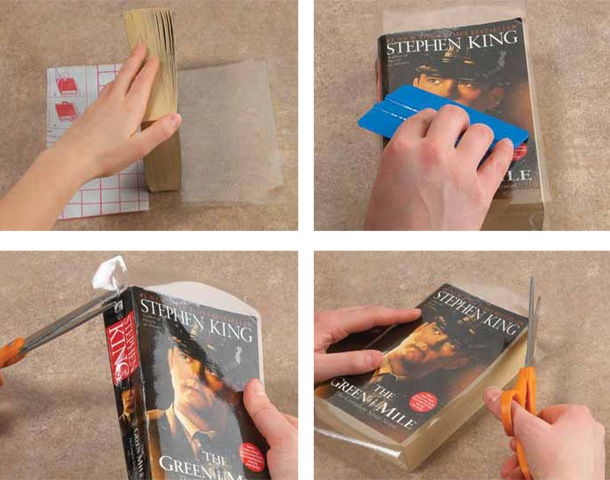 Self-Adhesive Clear Sticky Back Plastic Book Cover Film
