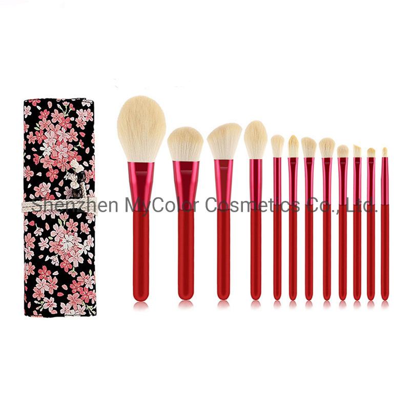 China 12pcs Red Brush Set Nylon