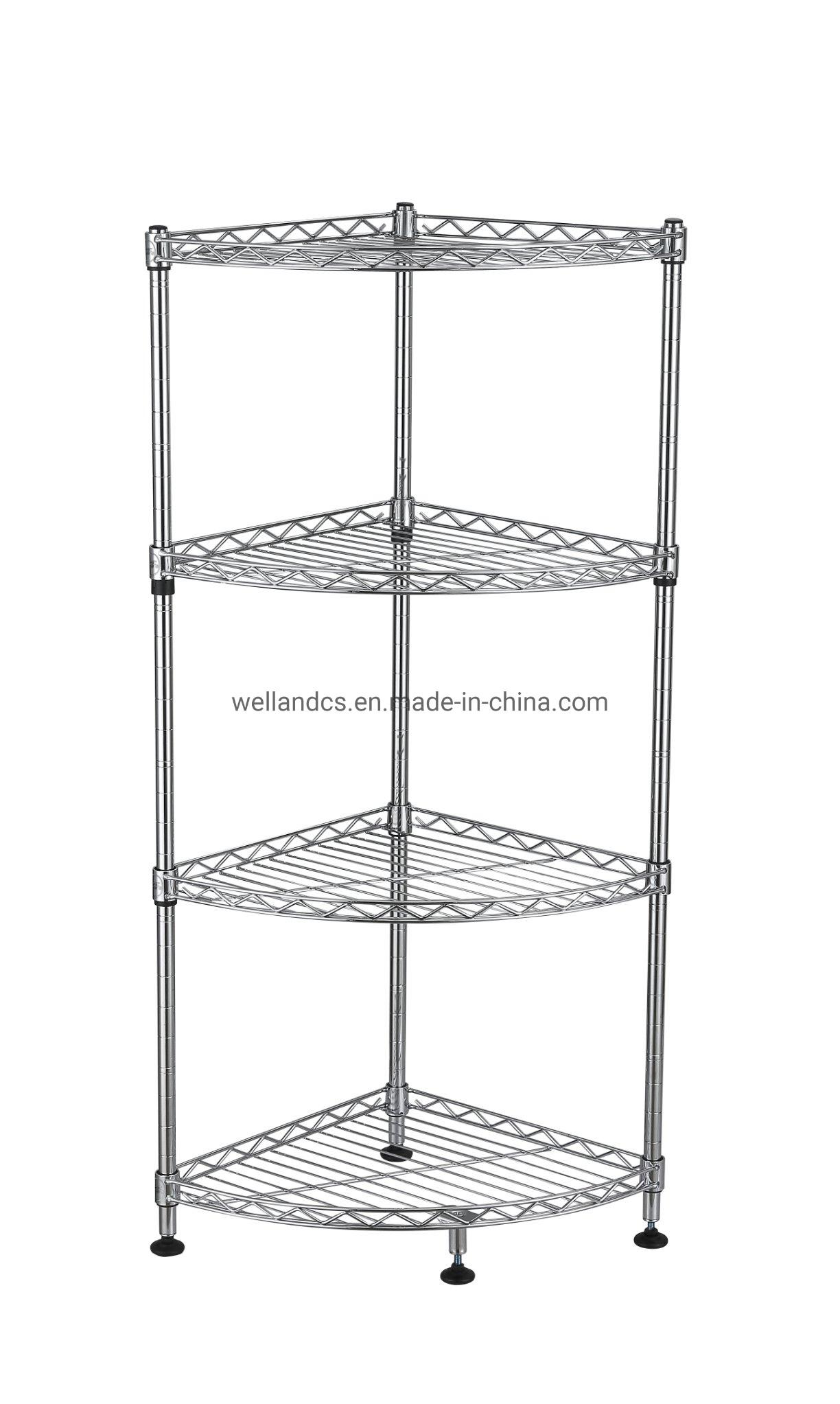 China Fanshaped Chrome Wire Shelf Kitchen Pan Pot Saucepan